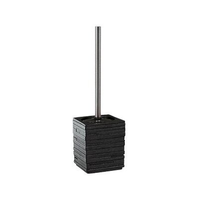 Gedy by Nameeks Quadrotto Toilet Brush Holder in Black
