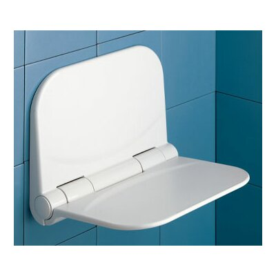 Dino Tilt-Up Shower Seat in White