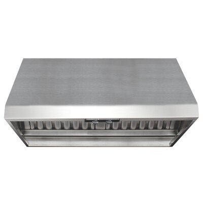 Air King Professional Range Hood with Warming Lights in Stainless Steel