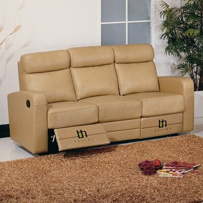 Hokku Designs Slope Leather Reclining Sofa