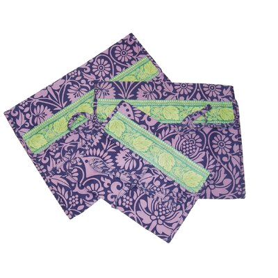 Amy Butler Safia Lingerie Envelopes in Sari Flowers Navy