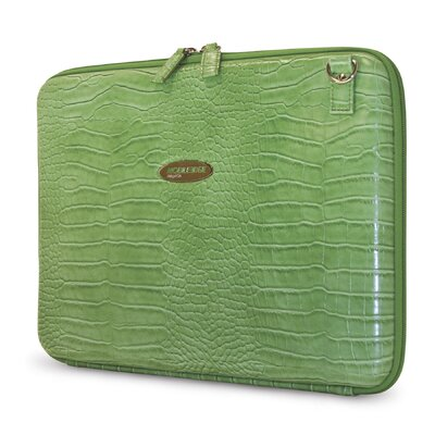 Mobile Edge Women's TechStyle Portfolio in Faux Croc Green