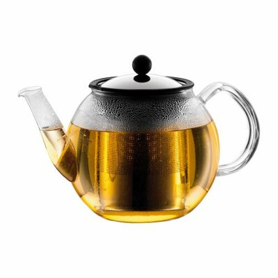 Bodum Shin Cha 34 oz Tea Press with Glass Handle and Spout and Stainless Steel Infuser