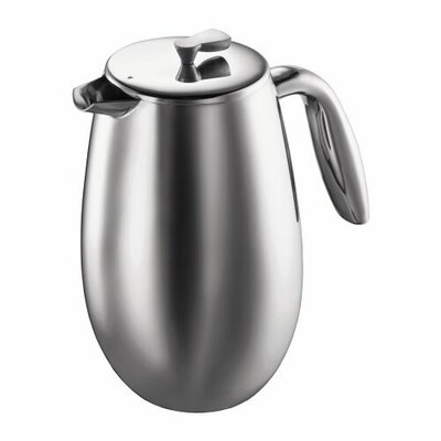 Bodum Columbia Double Wall Stainless Steel French Press Coffee Maker