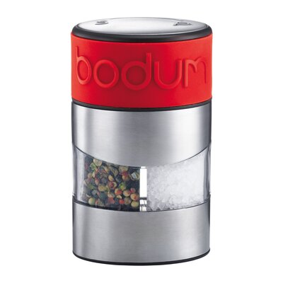 Bodum Twin Salt and Pepper Grinder in Red