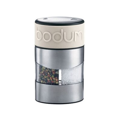 Bodum Twin Salt and Pepper Grinder in Off White