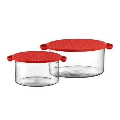 Bodum Hot Pot Set Borosilicate Glass Baking Dish in Red