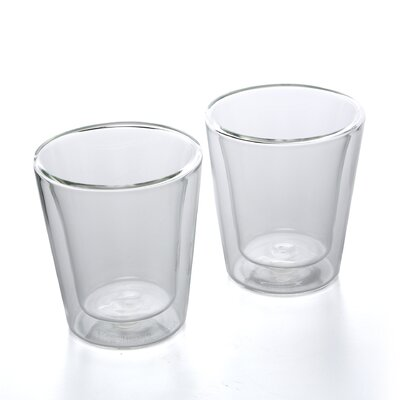 Bodum Canteen 6 oz Double Wall Insulated Glass Cup (Set of 2)
