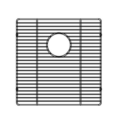 Julien 15.5&quot; x 16&quot; Electropolished Stainless Steel Grid for Kitchen Sink Bowl