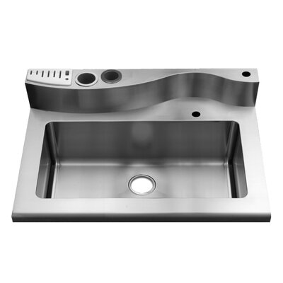 Julien Classic 36' x 26' Worktop Stainless Steel Single Bowl Kitchen Sink