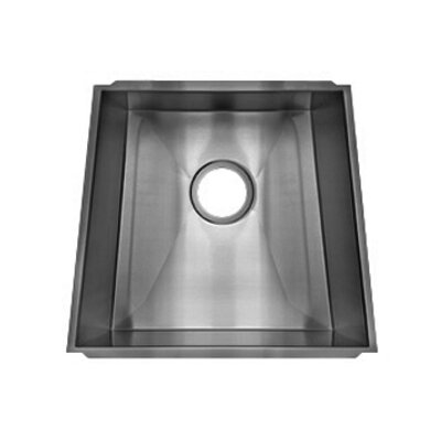 "Julien Trapezoid 18.33"" x 17.5"" Undermount Stainless Steel Single Bowl Kitchen Sink"
