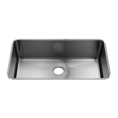 Julien Classic 34&quot; x 19.5&quot; Undermount Stainless Steel Single Bowl Kitchen Sink
