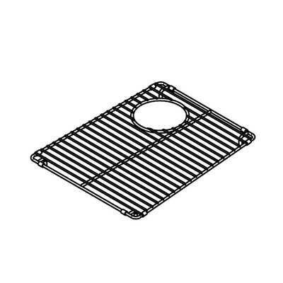 Julien Electropolished Stainless Steel Grid for 13''x16'' Trapezoid Sink