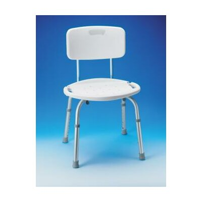 Carex Adjustable Bath and Shower Seat with Back