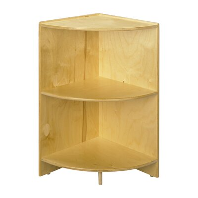 "A&E Wood Designs Cubbie 36"" Curved Shelf  Corner 36""High in Natural"