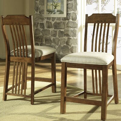 Craftsman Barstool in Medium Brown