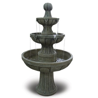 Bond Manufacturing Napa Valley Fiberglass 3 Tiered Fountain