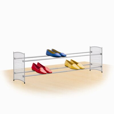 Expandable/Stackable Mesh Sided Shoe Rack