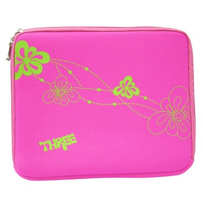 Three Flower Power Netbook and iPad Neoprene Sleeve