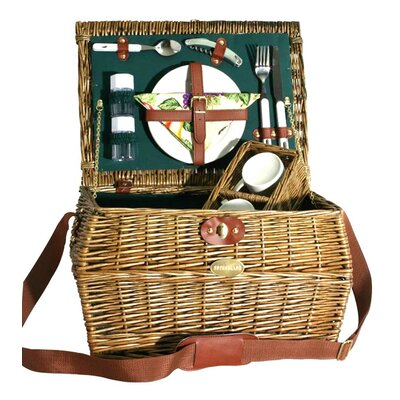 Dynasty Picnic Basket in Hunter Green Lining