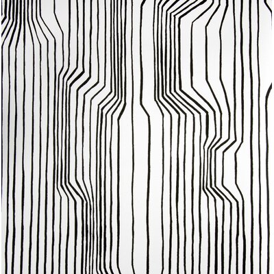 Marimekko Frekvenssi Wallpaper in White and Black by Harri Koskinen