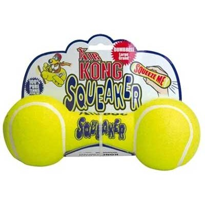 KONG Medium Air Squeaker Dumbbell Dog Toy