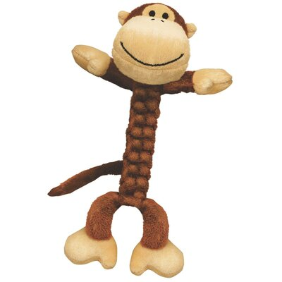 KONG Braidz Monkey Plush Dog Toy