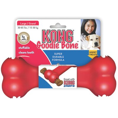 KONG Goodie Bone Dog Toy in Red