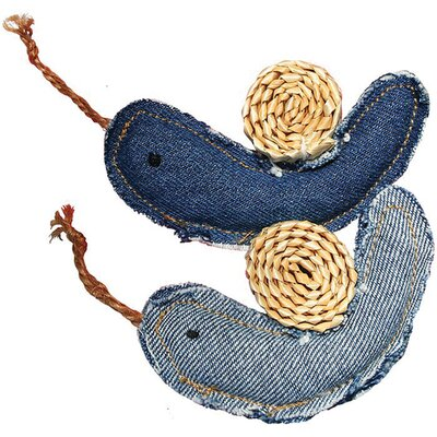 Denim Snails Cat Toy