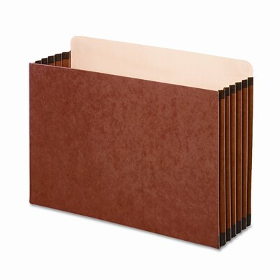 "Globe Weis 5 1/4"" Expansion File Cabinet Pocket, Straight, Legal, Redrope, 10/Pack"