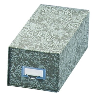 "Globe Weis Index Card Storage File, 14-1/2"" Deep, 6""x9"", Green"
