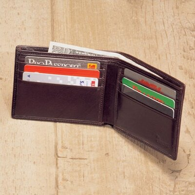 High Polished Cowhide Aniline Leather Slim Billfold Wallet