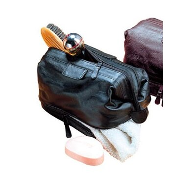 Winn International Cowhide Leather Travel Kit