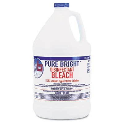 Boardwalk Pure Bright Liquid Bleach, 4/Carton