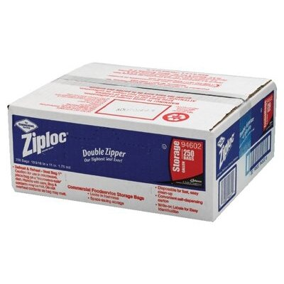 SC Johnson Johnson Diversey - Ziploc Commercial Resealable Bags Case/250 Ziplock Bags One Gallon Storage 1.75 Ml: 395-94602 - case/250 ziplock bags one gallon storage 1.75 ml