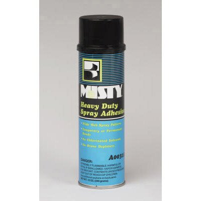 Misty Heavy-Duty Adhesive Spray Aerosol Can