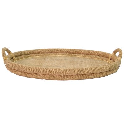Palecek Oval Natural Rope Top Tray