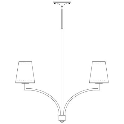 Framburg Montreux 5 Light Dining Chandelier