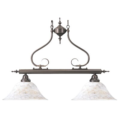 Black Forest Two Light Island Chandelier