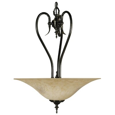 Framburg Black Forest 3 Light Inverted Pendant