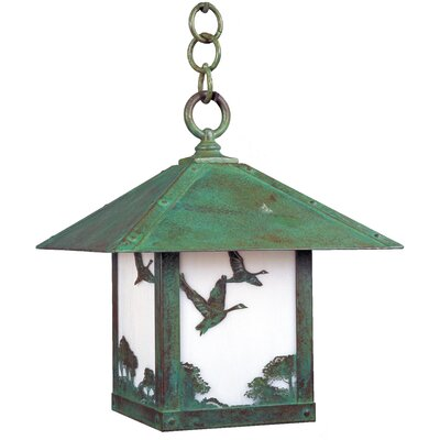 Arroyo Craftsman Timber Ridge Outdoor Hanging Lantern with Filigree