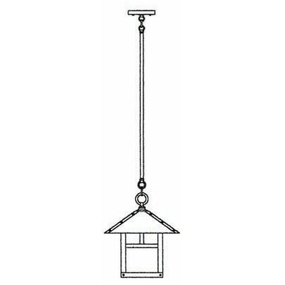 Arroyo Craftsman Evergreen Outdoor Stem Hung Hanging Lantern with Filigree