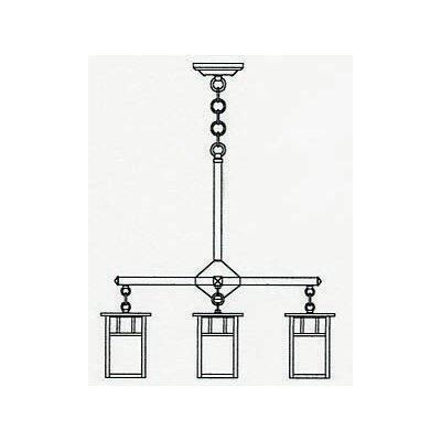 Arroyo Craftsman Huntington 4 Light Chandelier