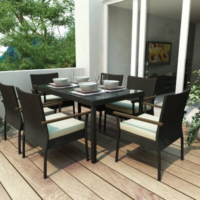Atlantic Outdoor 7 Piece Patio Dining Set