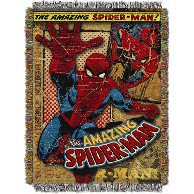 Northwest Co. Entertainment Spiderman Vintage Spicerman MTL Tapestry Throw