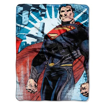 Superman Micro Raschel Polyester Throw
