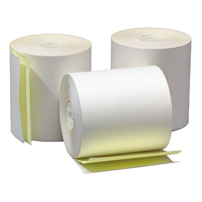 "TST Impreso 3"" x 90' 2-Ply Self Contained Adding Machine and Calculator Roll (50 Rolls)"