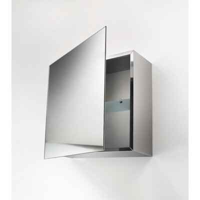 "WS Bath Collections Linea 17.7"" Pika Medicine Cabinet in Stainless Steel"