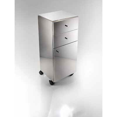 "WS Bath Collections Linea 31.5"" x 13.8"" Runner Storage Cabinet in Stainless Steel"