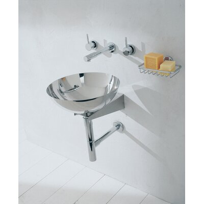 WS Bath Collections Linea Albio Bathroom Sink in Stainless Steel